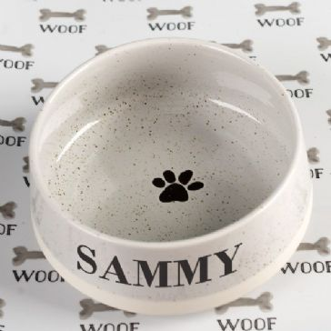 Small Grey Ceramic Pet Bowl